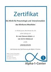 Anerkanntes Alpha-1-Centrum in der Klinik am Park Luenen