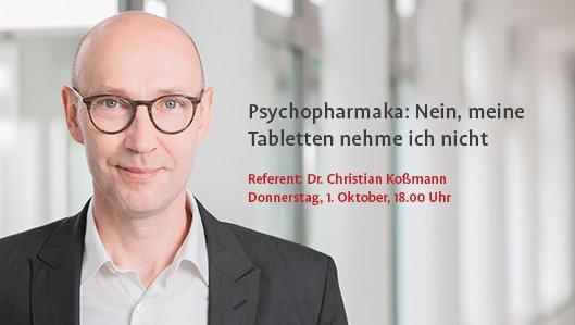 Dr. Christian Koßmann lädt ein zum Vortrag am 24. September
