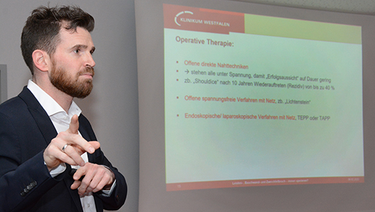 Chefarzt Dr. Björn Schmitz Hernienchirurgie Klinik am Park Lünen