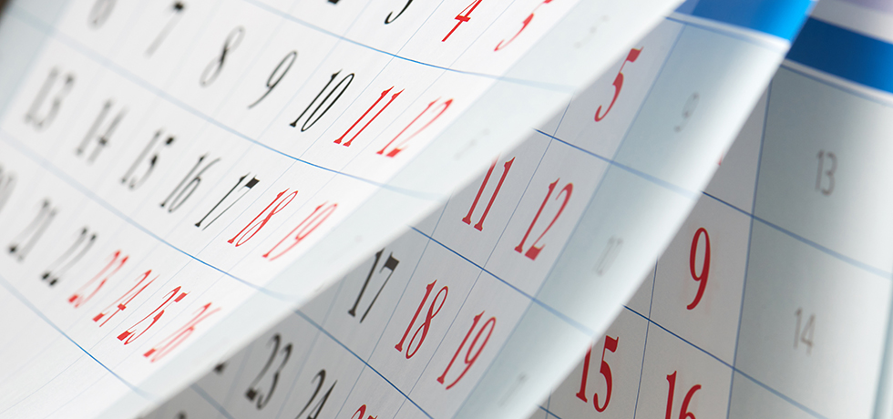 Fliegende Kalenderblätter