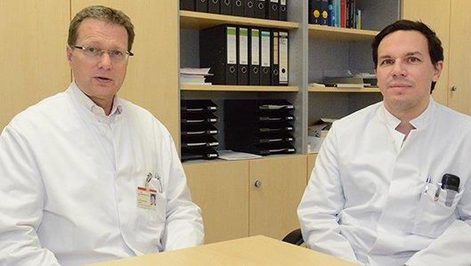 Coronavirus Experten aus dem Lungenfachzentrum Westfalen, Dr. Kelbel und Dr. Larrosa-Lombardi