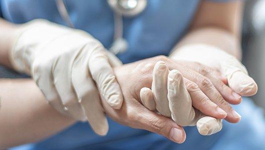 Untersuchung der Hand