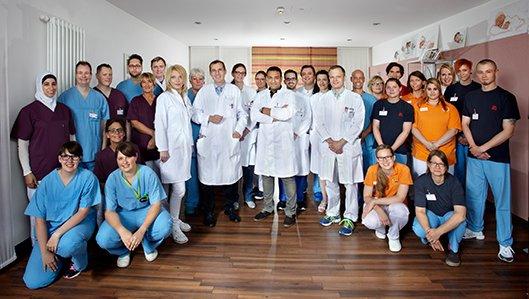 Team der Neurologie am Knappschaftskrankenhaus Dortmund