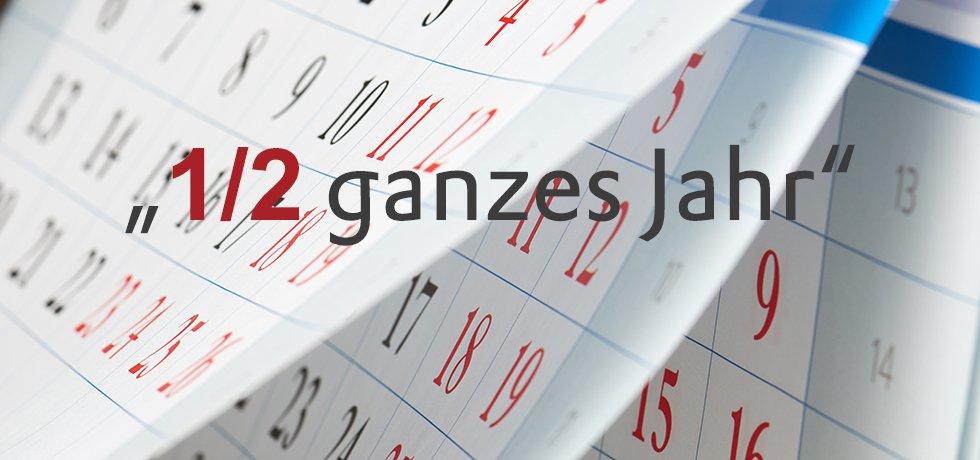 Symbolbild: aufklappende Monatsblätter auf einem Kalender.
