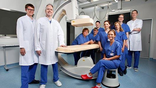 Team der Angiologie am Hellmig-Krankenhaus Kamen