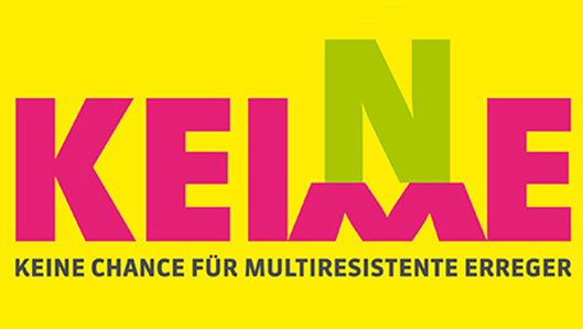 Initiative Keine Keime - Logo der Aktion - Keine Chance für Multirestistente Erreger