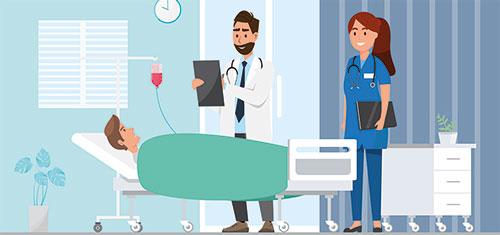 Der Aufenthalt im Krankenhaus