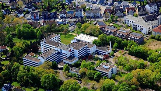 Luftbild Knappschaftskrankenhaus Luetgendortmund
