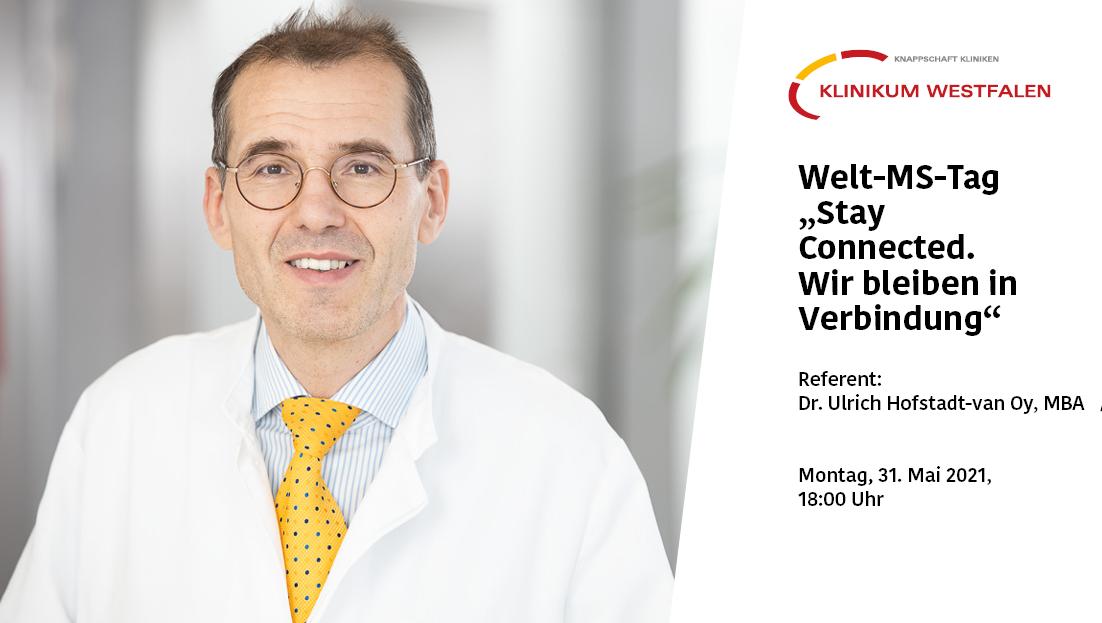 Ankündigungsplakat mit Dr. Hofstadt-van Oy