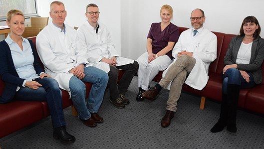 Team der Onkologie am Knappschaftskrankenhaus Dortmund