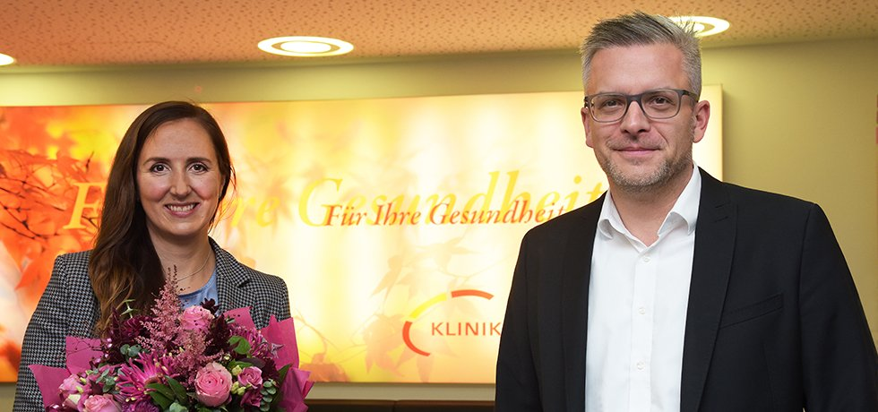 Daniela Derscheid und Hauptgeschäftsführer Stefan Aust