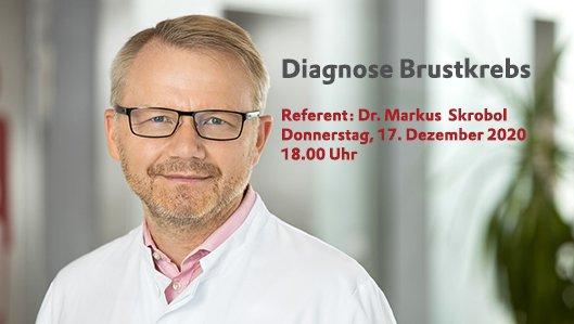 Der Leitende Oberarzt Dr. Markus Skrobol lädt ein zum Vortrag über Brustkrebs