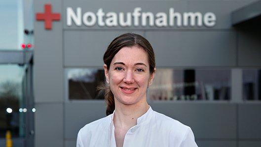 Leiterin der Zentralen Notaufnahme, Dr. Sandra Döpker