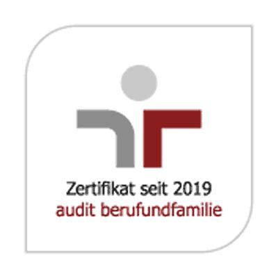 Zertifikat seit 2019 audit berufundfamilie