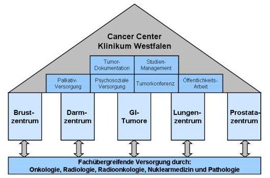 Cancer Center Klinikum Westfalen Schaubild
