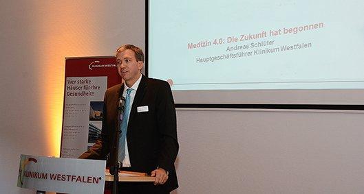 Klinikum trifft Westfalen - Hauptgeschäftsführer Andreas Schlüter referiert zum Thema Medizin 4.0