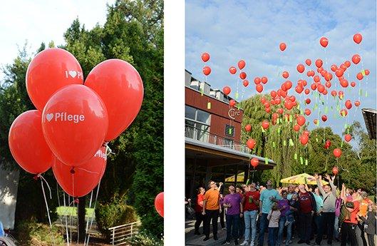 Luftballonaktion am Tag der Pflege