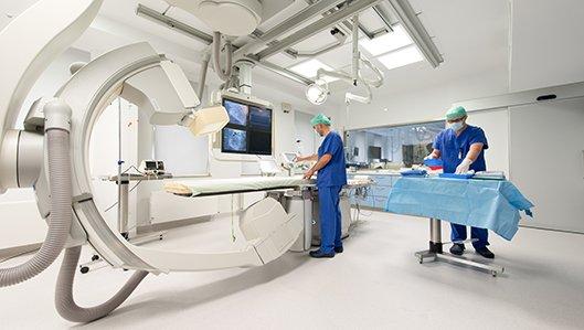 Herzkatheterlabor im Herzzentrum Westfalen am Knappschaftskrankenhaus Dortmund