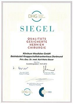 Qualitätssiegel Deutsche Hernienchirurgie