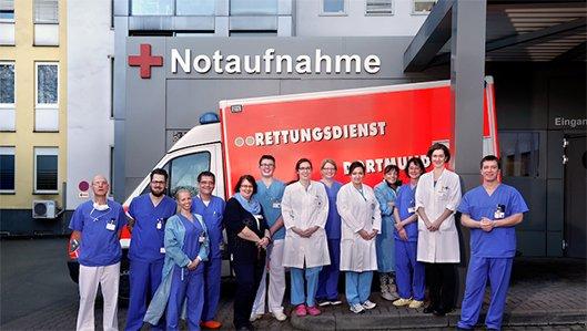 Das Team der Zentralen Notaufnahme am Knappschaftskrankenhaus Dortmund