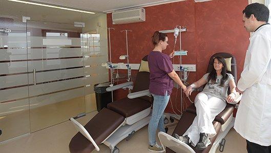 Therapieraum in der Onkologischen Knappschaftsambulanz Klinik am Park Lünen