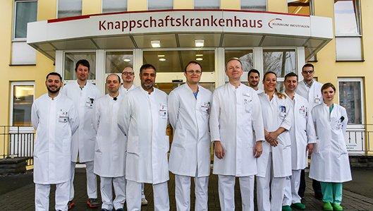 Das Ärzte-Team der Klinik für Urologie am Knappschaftskrankenhaus Dortmund